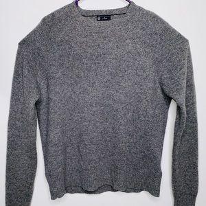 J. Crew 100% Lambswool Women's Gray Sweater (Sz-L)